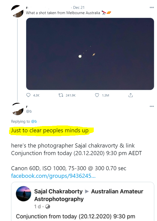 """""""Just to clear peoples minds up"""", they say."""