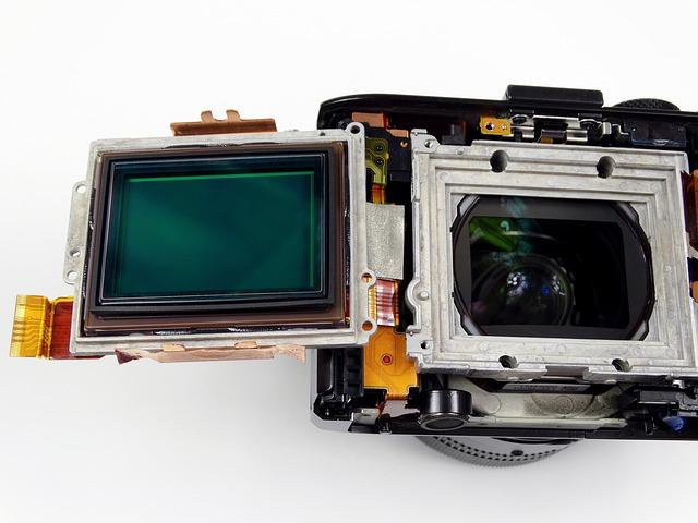 Image of an RX1 camera sensor built into the camera.